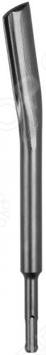 Зубило полукруглое Bosch 1618601004 SDS-PLUS представляет собой инструмент с изогнутым полукруглым рабочим профилем, который применяется с перфоратором в работе по дроблению канавок в камне.