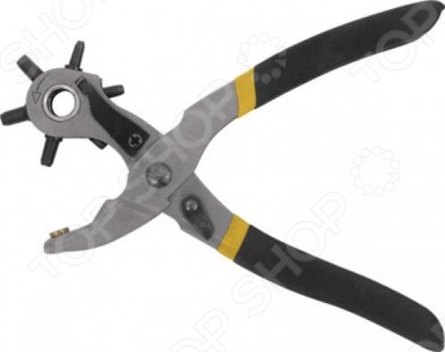 Дырокол-пробойник FIT 67425Шило. Просекатели<br>Дырокол-пробойник FIT 67425 - это профессиональный инструмент с револьверной головкой, предназначен для работы с бумагой, пластиком, текстилем и кожей. Диаметры пробиваемых отверстий: 2-2, 5-3-3, 5-4-4,5 мм. Модель изготовлена из инструментальной стали, ручки которой имеют пластиковое покрытие.<br>