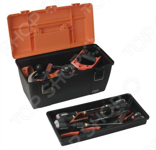 Ящик для инструментов BahcoСумки. Ящики. Шкафы для инструментов<br>Ящик для инструментов Bahco из прочного износостойкого пластика. Отличный вариант для хранения и транспортировки ручного инструмента. Ящик оснащен удобной и прочной ручкой. В наличии съемный лоток. Габариты изделия 510x280x290 мм.<br>
