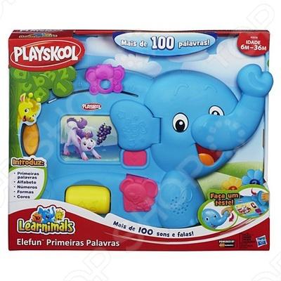 PLA Обучающая игрушка Слоник настоящий учитель для вашего малыша. Он поможет малышу выучить: буквы, слова, счет, цвета, формы, манеры и многое другое. На его боку расположен экран, где по очередности будут показываться все его друзья. Бабочка, расположенная в верхней части, научит ребенка считать до 10. Также игрушка развивает мелкую моторику: чтобы начать игру, нужно опустить вниз хобот слоника. Нажмите на мышку, чтобы узнать все о цветах и формах. Слоник говорит по-русски. Продается в открытой упаковке с функцией TRY ME.