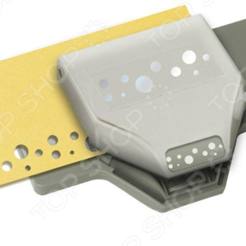 Дырокол фигурный EKSuccess Tools Швейцарский сыр поможет быстро создать оригинальные поделки в технике скрапбукинг. Дырокол вырезает на бумаге и картоне фигурные отверстия. Одним нажатием вы получаете узорные изображения, которые можно использовать для декорирования любых предметов: открыток, конвертов, подарочных коробок, альбомов и аппликаций. Ширина вырубки: 5 см.