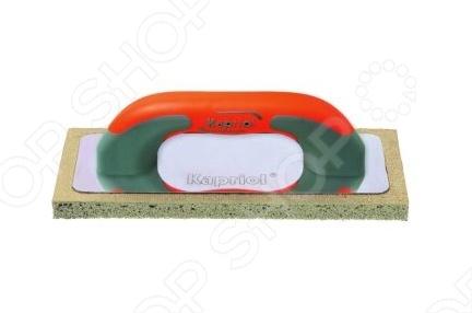 Терка штукатурная KAPRIOL с мягкой губкойДругой отделочный инструмент<br>Терка штукатурная KAPRIOL с мягкой губкой ручной инструмент предназначенный для окончательного выравнивания формы штукатурки и затирания раствора на поверхность. Пористая губка легко передвигается по рабочей зоне. А благодаря алюминиевому основанию полотна и эргономичной пластиковой ручке, работа с теркой станет удобной и быстрой. Размеры 14х28 см.<br>