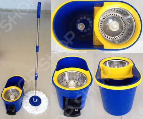фото Комплект для уборки полов: швабра, ведро с отжимом QYMOP-02 Spin Mop, Швабры и щетки