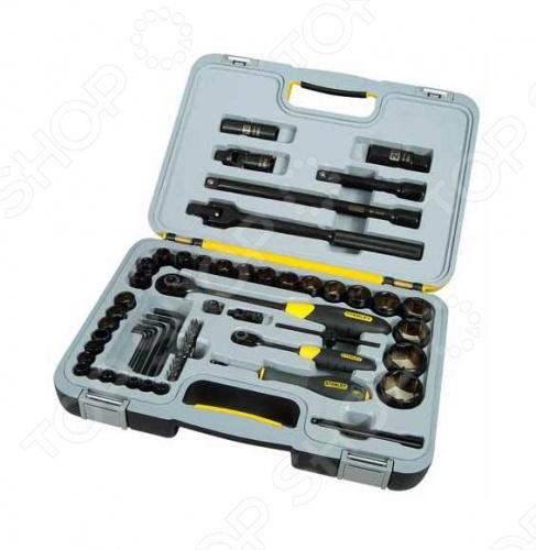 Набор с торцевыми головками STANLEY Black Chrome 1-94-663Наборы инструментов<br>Набор торцевых головок STANLEY Black Chrome 1-94-663 - содержит большое количество необходимых инструментов для осуществления ремонтно-монтажных работ в различных сферах деятельности. Комплект часто используется в профессиональных автосервисах, а также бытовых условиях. Для более удобного хранения и транспортировки инструменты размещены в чемодане, в котором для каждого компонента есть отдельная ячейка. Удобство и ощущение того, что всё необходимое под рукой, именно это вы испытаете, при работе с этим предметом.<br>
