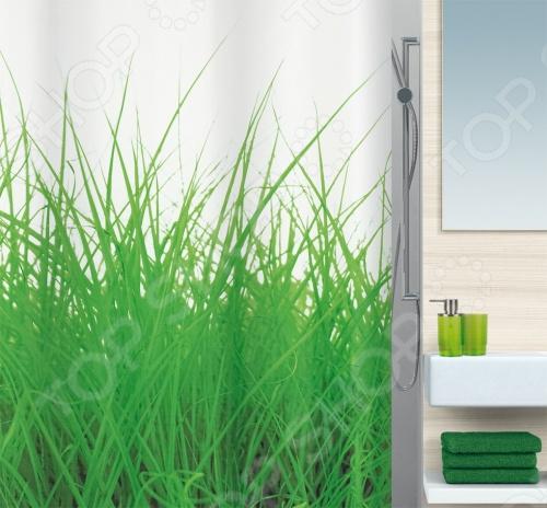 Штора для ванной комнаты Spirella Grass кольца для штор spirella c minor