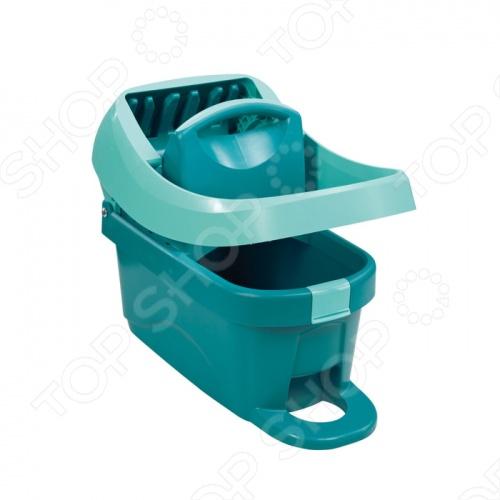 фото Ведро для мытья полов с отжимом на колесиках Leifheit Wiper Cover Press Profi 55076, купить, цена
