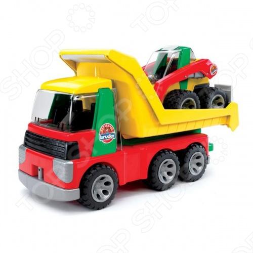 Грузовик с погрузчиком Bruder Roadmax 20-070 машины bruder погрузчик roadmax с ковшом и разрыхлителем