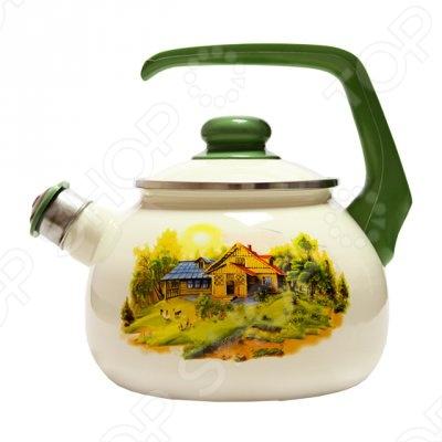 Чайник со свистком Metrot Домик в деревне кастрюля с крышкой metrot домик в деревне