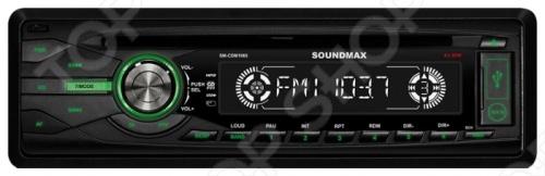 Автомагнитола Soundmax SM-CDM1065 усилитель звука soundmax sm sa6023 2 канальный