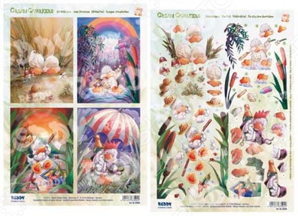 фото Аппликация вырубная и фон для рисунков Reddy Creative Cards «Утки» №3, купить, цена