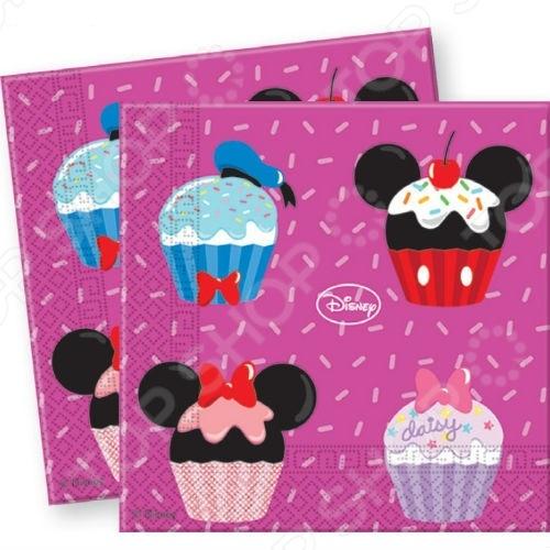 Салфетки детские Procos «Микки и его друзья - сладости» стаканы пластиковые procos микки и его друзья сладости
