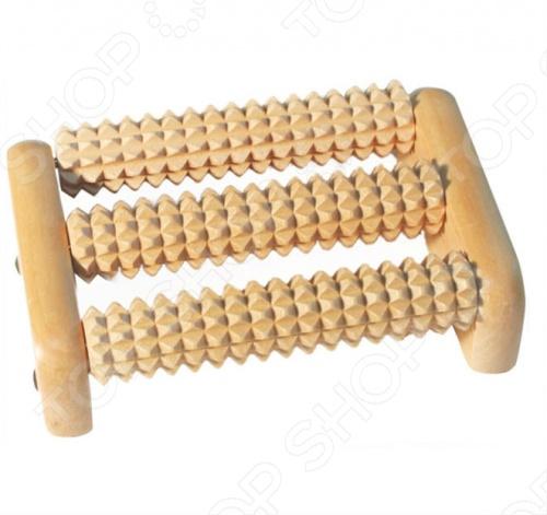 Массажер деревянный Банные штучки для ног позволит самостоятельно проводить несложный массаж ступней, не требуя для этого специальных навыков. На ступне человека расположено около 70 тысяч нервных окончаний, которые образуют рефлекторные зоны. При массаже таких зон происходит воздействие на соответствующие органы человека, после которого наблюдается активизация защитных функций организма.