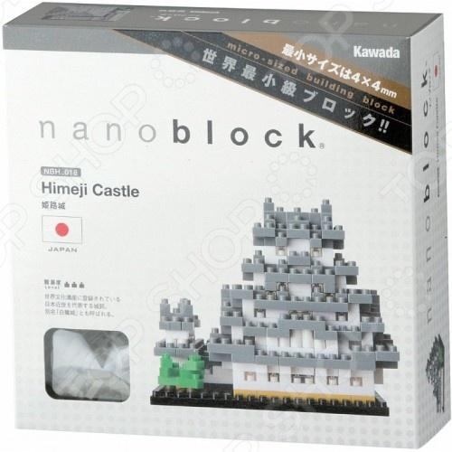 Мини-конструктор Nanoblock «Замок Белой Цапли»Другие виды конструкторов<br>Мини-конструктор Nanoblock Замок Белой Цапли это самый маленький в мире конструктор, который представляет собой удивительное творение японских инженеров. Высокоточные трехмерные модели стали очень популярны во всем мире, а теперь вы можете приобрести их и для своего ребенка. Высокое качество пластика, дизайн деталей и точная инструкция позволят добиться изумительной реалистичности у собранной модели. Сборка конструкции может занять от 10 минут до нескольких часов, ведь необходимо проявлять внимательность в подборе каждой детали. Собрав детали этого конструктора вы сможете получить фигурку замка, собранная фигурка сможет украсить интерьер детской комнаты. В комплекте вы найдете 500 деталей разных цветов, подставку, графическую инструкцию и запасные детали. Для ребенка очень полезно собирать конструкторы такого типа, ведь развивается мелкая моторика рук, логическое и пространственное мышление, усидчивость и координация движений.<br>