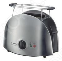 Тостер Bosch TAT 6901 с автоматическим центрированием тостов. Автоматическое отключение при застревании тоста. Теплоизоляция корпуса. Решетка для булочек: съемная. Съемный поддон для крошек. Режим приготовления замороженных тостов. Отдельная кнопка прерывания приготовления тостов. Бесступенчатый терморегулятор. Намотка кабеля.