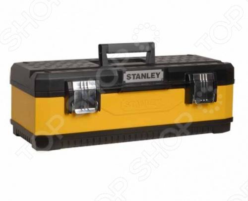 Ящик для инструмента STANLEY 26 предназначен для хранения и транспортировки инструментов. Две металлические защелки надежно защищают от непреднамеренного открывания. Можно отдельно установить навесной замок. Такой ящик пригодится как профессионалу, так и домашнему мастеру: он позволяет держать инструменты и крепежные детали в одном месте и обеспечивает их сохранность. Сверху располагается переносной лоток для мелких деталей. Приспособление оснащено удобной ручкой с мягкими вставками, выполнено из прочных материалов.