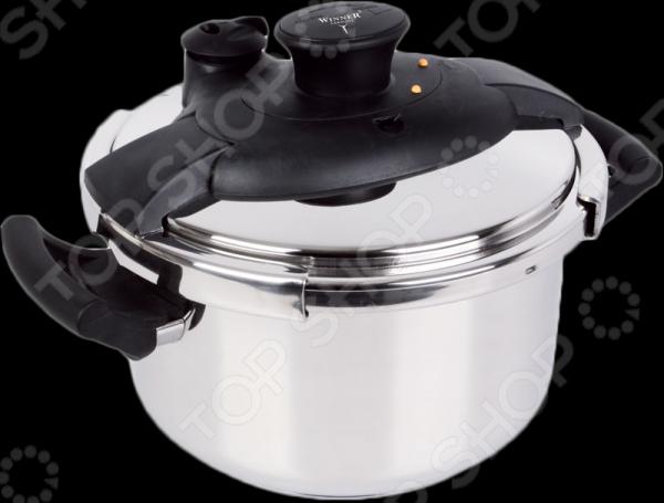 Скороварка Winner WR-1803Скороварки<br>Скороварка Winner WR-1803 просто незаменима на любой кухне, с ее использованием приготовление ваших любимых блюд перейдет на качественно новый уровень. Модель весьма функциональна и практична в использовании, подойдет для приготовления супов, бульонов, гарниров, тушенных овощей и т.д. Кастрюля выполнена из высококачественной нержавеющей стали; снабжена герметично закрывающейся крышкой, регулятором давления, уплотнительным кольцом и капсулированным дном, способствующим равномерного нагреву и длительному сохранению тепла. Блюда в скороварке готовятся на порядок быстрее, нежели в обычной кастрюле или мультиварке.<br>