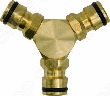 Тройник FIT 77462Коннекторы и штуцеры для соединения шлангов<br>Тройник применяется для быстрого и надежного монтажа 3-х участков шланга с соединителями на концах. Упаковка: блистер.<br>