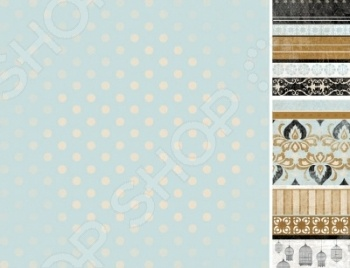 фото Бумага для скрапбукинга двусторонняя Kaisercraft Lumiere, купить, цена