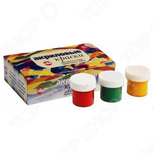 Акрил в наборе Olki 2735 обязательно пригодится любителям декупажа. В набор входят 8 баночек красок по 22 мл каждая с основными цветами. Вы сможете смешивать при необходимости смешивать их и получать дополнительные цвета.