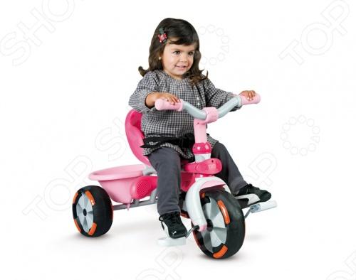 Велосипед трехколесный Smoby Baby Draiver Confort - станет отличным подарком для вашего малыша. Многофункциональное транспортное средство по достоинству оценят как взрослые так и дети. Модель имеет регулируемый по высоте толкатель с удобной сумкой, дуги и удобные ремни безопасности. Когда малыш подрастет, то сможет кататься на велосипеде самостоятельно. У велосипеда широкие прорезиненные бесшумные колеса, которые придадут ему большую устойчивость.