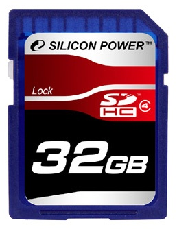 фото Карта памяти Silicon Power SP032GBSDH004V10, Карты памяти. Кардридеры