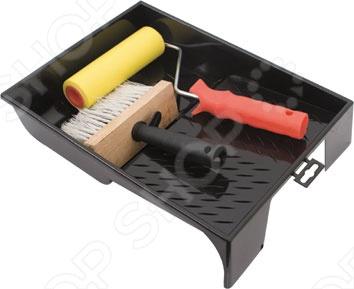 Набор для поклейки обоев FIT 03030Ролики. Кисти. Валики. Щетки<br>Набор для поклейки обоев FIT 03030 содержит пластиковую ванночку 330x250 мм, прижимной резиновый валик 150 мм, макловицу 70x150 мм искусственная щетина в пластиковом корпусе и деревянная ручка .<br>
