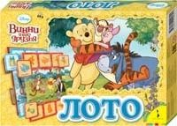 Лото Disney Винни уникальный набор для детей, которые жаждут познать этот мир и развивать свои способности. Игра состоит из 8 полей и 48 карточек. В центре игрового поля - сюжетная картинка по мотивам любимого мультфильма, на карточках - предметы, изображенные на сюжетной картинке.