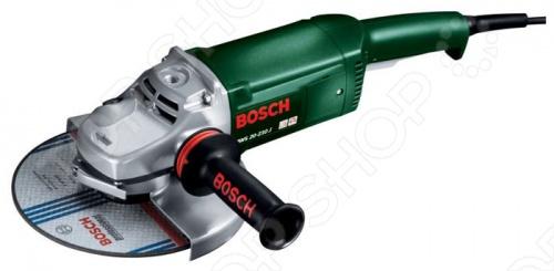Машина шлифовальная угловая Bosch PWS 20-230 JШлифовальные машины<br>Машина шлифовальная угловая Bosch PWS 20-230 J это отличная шлифовальная машина, компактная и легкая, она создана для максимального удобства работника. Инструмент подойдет для обработки больших поверхностей и углов. Машинка поможет в удалении краски и ржавчины, шлифования и полировки. Мягкий материал эргономичной рукоятки обеспечит вам возможность долгой работы без утомления.<br>