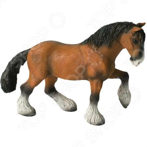 Фигурка-игрушка Bullyland Конь шайрской породыИгрушечные животные<br>Фигурка-игрушка Bullyland Конь шайрской породы отличный подарок не только для детей, но и взрослых. Качество исполнения и внимание к деталям делают это изделие замечательным как для игровых, так и коллекционных целей. Серия фигурок от Bullyland представлена многочисленными видами домашних и диких животных. Они выполнены в соответствии с производственными стандартами из нетоксичных материалов, поэтому безопасны для здоровья.<br>
