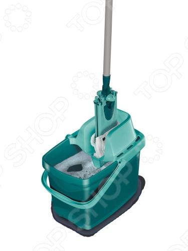 фото Ведро для мытья полов с насадкой для отжима и швабра Leifheit Combi Clean 55356, Швабры и щетки