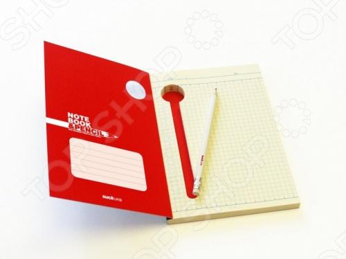 Блокнот со встроенной ручкой Suck UK Notebook &amp;amp; PencilБумага для заметок. Стикеры. Блоки<br>Блокнот со встроенной ручкой Suck UK Notebook Pencil станет отличным дополнением к набору ваших канцелярских принадлежностей. Изделие выполнено в твердом переплете из высококачественной плотной бумаги и снабжено удобным встроенным отделением для хранения ручки или карандаша. Теперь вам не придется судорожно искать ручку, когда необходимо будет что-то записать.<br>