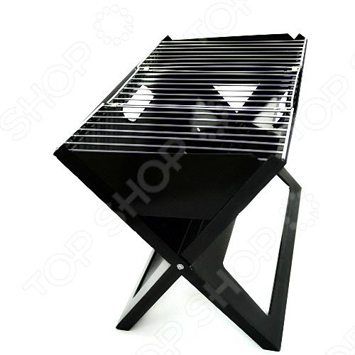 Мангал Мегагриль UBRS88 это уникальный раскладной мангал-трансформер чёрного цвета, вес которого составляет всего 3,5кг. В сложенном состоянии габариты мангала не превышают 460 30 470 мм, в рабочем 460 400 300 мм. Толщина стали, из которой выполнен корпус составляет 1 мм. Мангал раскладывается всего за 10 секунд. Очень удобен для организации отдыха на природе с друзьями, так как вам не потребуются шампура.