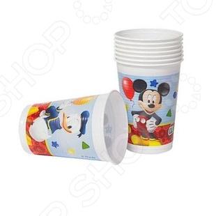 Стаканы пластиковые Procos «Веселый Микки» веселый светофор раскраска