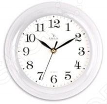 Часы настенные Вега П 6-7-19 Классика белые арабские Вега - артикул: 248395