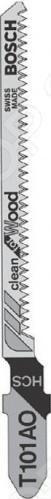 Набор пилок для лобзика Bosch T 101 AО HCS набор пилок для лобзика bosch t 101 br 2608630014
