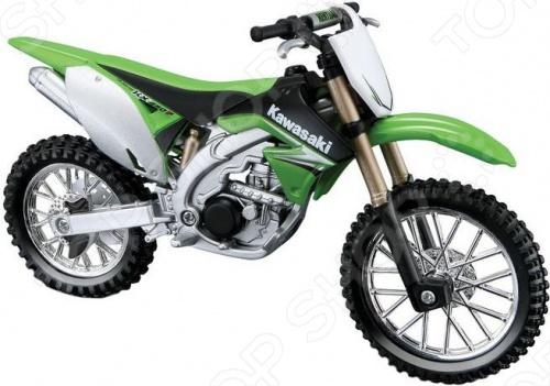 Модель мотоцикла 1:18 Bburago Kawasaki KX 450F