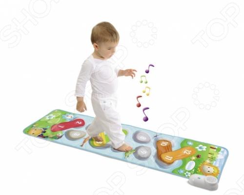 Коврик музыкальный Smoby 211144 подарит множество радостных и веселых мгновений вам и вашему малышу. Гораздо приятнее и интереснее делать первые шаги под музыку, а именно эту возможность и предоставляет данная игрушка. Когда малыш нажимает ножкой или ручкой на одну из 4-х зон, начинает играть веселая детская песенка, которая, несомненно, вызовет улыбку на лице малыша и подарит ему и вам замечательное настроение.