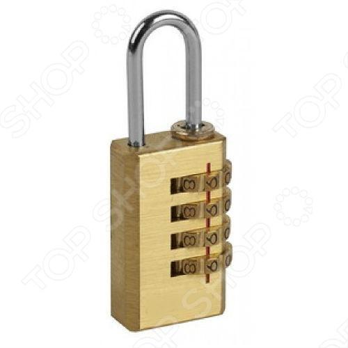 Замок кодовый навесной FIT 67189Замки<br>Замок навесной FIT 67189 с кодовым механизмом четыре диска . Корпус изготовлен из латуни, а дужка из стали. Замок упакован в блистер. Инструкция:  На замке установлен заводской код 0-0-0-0. Выставите код 0-0-0-0 по линии совмещения и потяните дужку замка вверх.  Для установки личного кода, поверните дужку на 180 , затем нажмите ее вниз. Введите новый код.  Приподнимите дужку замка, чтобы она приняла нормальное положение. Новый код установлен.<br>