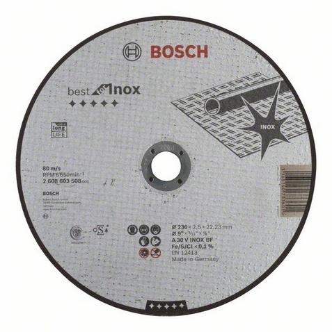 Диск отрезной прямой Bosch Best for Inox диск отрезной алмазный для угловых шлифмашин bosch best for ceramic