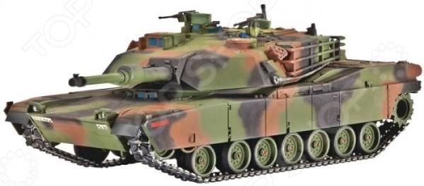 Сборная модель танка Revell M1 A1 (HA) AbramsТанки<br>Сборная модель M1 A1 HA Abrams представляет собой точную копию настоящего танка. Состоит из 113 деталей, которые юный механик должен собрать сам. Во время игры с такой машиной у ребенка развивается мелкая моторика рук, фантазия и воображение. Американский современный танк выпущен известной компанией по производству игрушек Revell. Изготовлен из пластика и обладает потрясающей детализацией. Сборная модель M1 A1 HA Abrams является отличным подарком не только ребенку, но и коллекционеру. Клей, кисточка и краски в комплект не входят.<br>