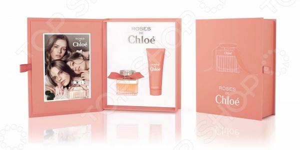 Набор женский: туалетная вода и лосьон для тела Chloe Roses de chloe, 50 мл, 75 мл набор туалетная вода лосьон elizabeth arden набор туалетная вода лосьон