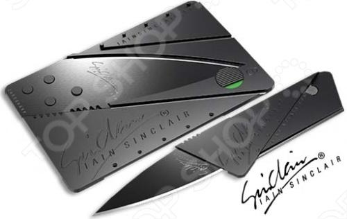 CardSharp 2 - складной нож в вашем бумажнике. Случаев, когда вам может понадобиться перочинный ножик, просто не счесть. Отрезать кусок скотча, случайно вылезшую нитку на брюках, заточить карандаш, вскрыть сметану, в конце концов! Но носить с собой тяжелый нож хочет далеко не каждый. В кармане таскать неудобно, а брать с собой сумку только ради ножа тоже не дело. Благо, инженерная мысль не стоит на месте, и этот вопрос решили в компании Lain Sinclair Design. Мы рады представит вам нож-карточку CardSharp 2! В сложенном виде он крайне похож на пластиковую карту. Те же размеры, та же форма. Но стоит произвести несколько нехитрых движений, и банковская карта превращается в острый перочинный нож. В боевом состоянии данный нож легко разрезает парящий в воздухе лист бумаги. Само собой, хлеб и колбасу на бутерброды нарезать будет не проблема. Особенно если делать это на столе. Ну, а вообще нож CardSharp 2 предназначен для разрезания различных материалов: дерева, картона, кожи, резины, а также для нарезания фруктов, овощей, хлеба, мяса и т. п. CardSharp 2 всегда с Вами, и дает возможность в любой момент срезать цветок с куста, вскрыть посылку или любую упаковку, разрезать веревку, нарезать фрукты, овощи и т.д. Очень полезный и верный спутник и прекрасный подарок.