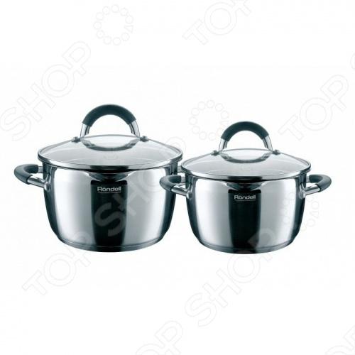 Набор посуды flamme 4 Rondell RDS-339 набор кастрюль rondell flamme rds 341