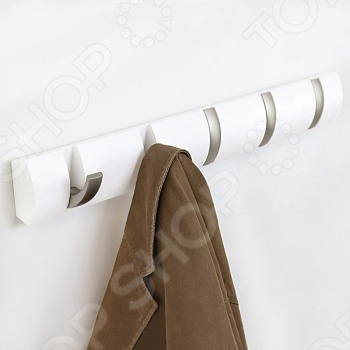 Вешалка настенная горизонтальная с 5-ю крючками Umbra Flip umbra вешалка настенная sticks серая