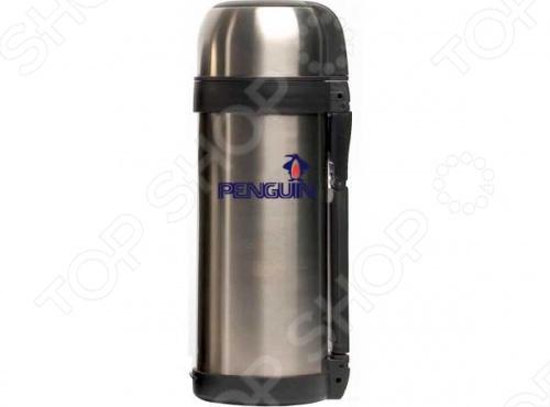 Термос Penguin ВК-8А с узким горлом из нержавеющей стали. Объём термоса 1,2 л. Вакуумный термос из нержавеющей стали создан специально для путешественников, любителей активного образа жизни и экстремальных увлечений. Он одинаково хорошо противостоит и жаре, и холоду. Двойная изоляция, прочный стальной корпус, удобство в переноске и оригинальное устройство ручки все в этом термосе предназначено для использования в полевых условиях. Термос снабжен специальным ремнем, благодаря которому его можно переносить подвешенным на плече. Двухступенчатая система вакуумирования и фирменная конструкция геттера термоса, которая исключает опасность утечки вакуума, гарантируют долгую и надежную работу термоса. Температурные характеристики для горячего: при температуре воздуха 20-21 градус и начальной температуре 98-100градусов через 24 часа температура воды составляет 52-55 градуса.
