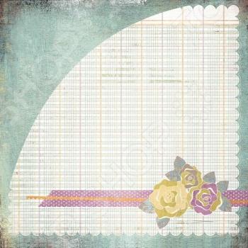 фото Бумага для скрапбукинга двусторонняя Basic Grey Floweret, купить, цена