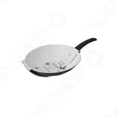 Сковорода вок Flonal Iridium Ecolux без крышкиВоки<br>Сковорода вок Flonal Iridium Ecolux без крышки пригодится тем, кто любит азиатскую кухню, а также тем, кто следит за своим здоровьем! Пища в сковороде вок Flonal Iridium Ecolux готовится очень быстро и остается полезной. Готовя еду в сковороде вок, помните, что все продукты нужно постоянно перемешивать на большом огне, так как ее форма направляет все ингредиенты в центр, к источнику жара.<br>