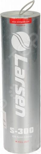 Набор воланов в тубе Larsen S-300Воланы<br>Набор воланов в тубе Larsen S-300 включает в себя 6 нейлоновых воланов с натуральной пробкой. Поставляются в удобной тубе.<br>