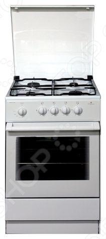 Плита Дарина A GM441 002 это отличная плита, которая прекрасно подойдет в дизайн вашей кухни. Варочная панель, как и духовка газовая. Управление механическое, переключатели поворотные. Духовка оснащена газ-контролем духовки и подсветкой. Панель варочной поверхности сделана из эмали, 4 конфорки, легко очищается.