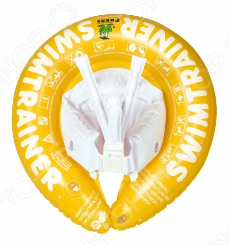 Круг надувной Swimtrainer Classic создан для обучения малышей плаванью. Квалифицированные специалисты учли основные аспекты развития детей и разработали модели кругов для разных возрастов. Красный предназначен для самых маленьких и позволяет начать обучение уже с трехмесячного возраста. Оранжевый подойдет для малышей от 2 до 6 лет. Деткам постарше 4-8 лет следует купить желтый круг. Запатентованная конструкция обеспечивает максимальную безопасность однако взрослые все равно должны быть рядом . Малыш находится в горизонтальном положении и привыкает лежать на воде. С таким кругом очень просто обучить ребенка плаванью в игровой форме. Подойдет для бассейнов, озер или моря.